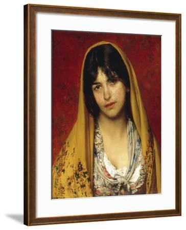 Young Girl with Veil, 1882-Eugen Von Blaas-Framed Giclee Print