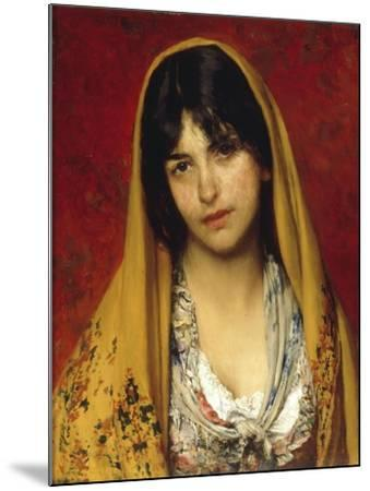 Young Girl with Veil, 1882-Eugen Von Blaas-Mounted Giclee Print