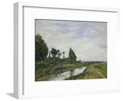 Petit Canal a Quilleboeuf, 1893-Eug?ne Boudin-Framed Giclee Print