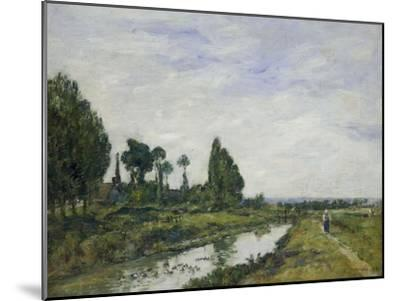 Petit Canal a Quilleboeuf, 1893-Eug?ne Boudin-Mounted Giclee Print