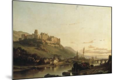 A View of Heidelberg and the River Neckar-Francois Antoine Bossuet-Mounted Giclee Print