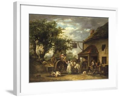 In Front of the Bell Inn, 1793-George Morland-Framed Giclee Print