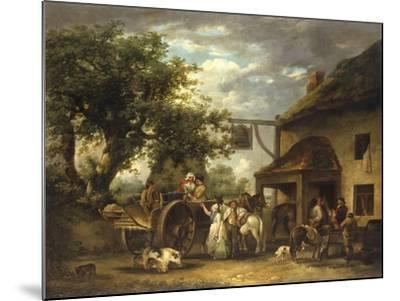 In Front of the Bell Inn, 1793-George Morland-Mounted Giclee Print
