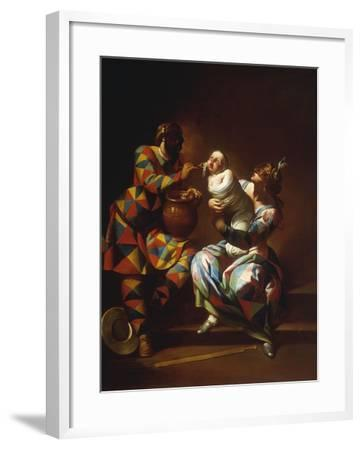 Harlequin as a Father-Giovanni Domenico Ferretti-Framed Giclee Print