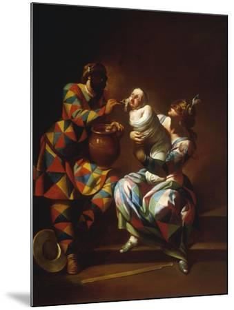 Harlequin as a Father-Giovanni Domenico Ferretti-Mounted Giclee Print