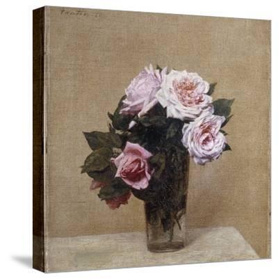 Fleurs - Roses Roses, 1886-Henri Fantin-Latour-Stretched Canvas Print