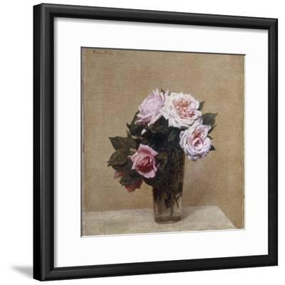 Fleurs - Roses Roses, 1886-Henri Fantin-Latour-Framed Giclee Print