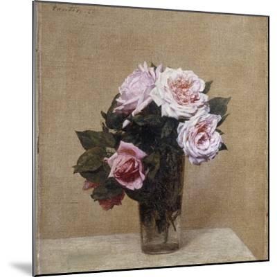Fleurs - Roses Roses, 1886-Henri Fantin-Latour-Mounted Giclee Print