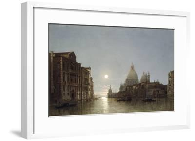 The Grand Canal by Moonlight-Henry Pether-Framed Giclee Print