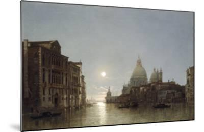 The Grand Canal by Moonlight-Henry Pether-Mounted Giclee Print