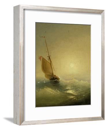 Sailing Barge at Sunset, 1856-Ivan Konstantinovich Aivazovsky-Framed Giclee Print
