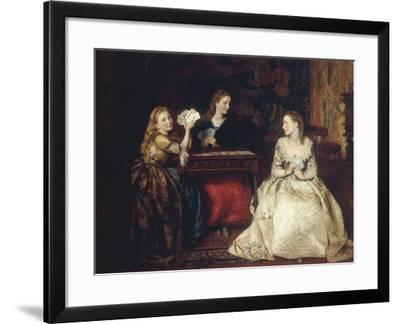 Hearts are Trumps, 1866-James Archer-Framed Giclee Print