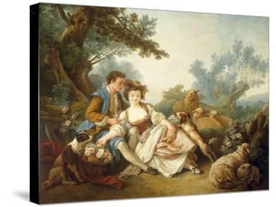 The Basket of Roses, 1785-Jean-Baptiste Huet-Stretched Canvas Print