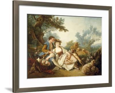 The Basket of Roses, 1785-Jean-Baptiste Huet-Framed Giclee Print