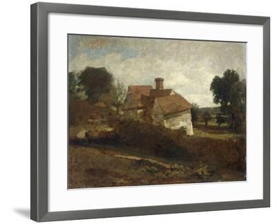Landscape with Cottages, c.1809-John Constable-Framed Giclee Print