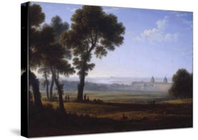 Greenwich Looking Towards the Thames-John Glover-Stretched Canvas Print