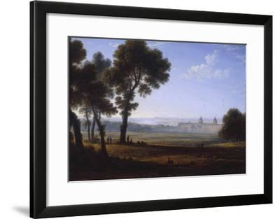 Greenwich Looking Towards the Thames-John Glover-Framed Giclee Print