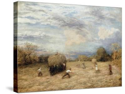 Hay and Haste, 1875-John Linnell-Stretched Canvas Print