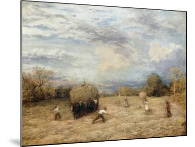 Hay and Haste, 1875-John Linnell-Mounted Giclee Print