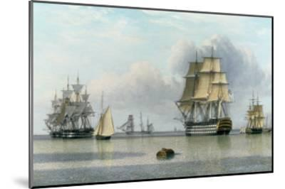 H.M.S. Britannia and Other Shipping in Calm Waters-John Of Hull Ward-Mounted Giclee Print