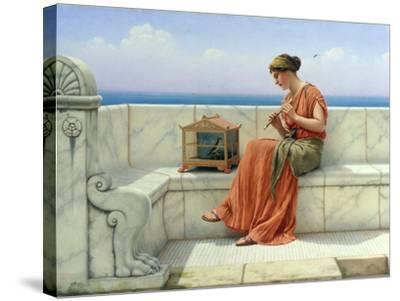 Song without Words, 1918-John William Godward-Stretched Canvas Print
