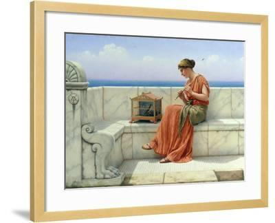 Song without Words, 1918-John William Godward-Framed Giclee Print