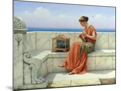 Song without Words, 1918-John William Godward-Mounted Giclee Print