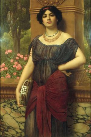 The Tambourine Girl, 1909-John William Godward-Stretched Canvas Print