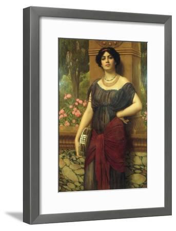 The Tambourine Girl, 1909-John William Godward-Framed Giclee Print