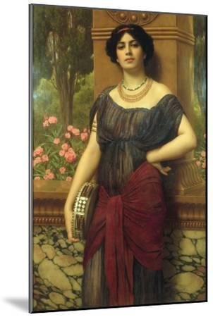The Tambourine Girl, 1909-John William Godward-Mounted Giclee Print