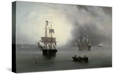 Becalmed, 1854-John Wilson Carmichael-Stretched Canvas Print