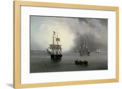Becalmed, 1854-John Wilson Carmichael-Framed Giclee Print