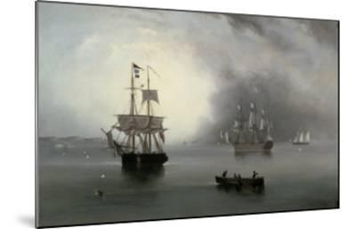 Becalmed, 1854-John Wilson Carmichael-Mounted Giclee Print