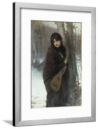 A Gypsy Girl with a Mandora Giclee Print by Jules Joseph