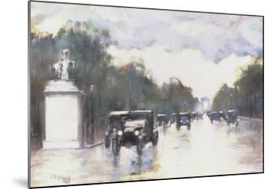 The Champs Elysees, 1928-Lesser Ury-Mounted Giclee Print