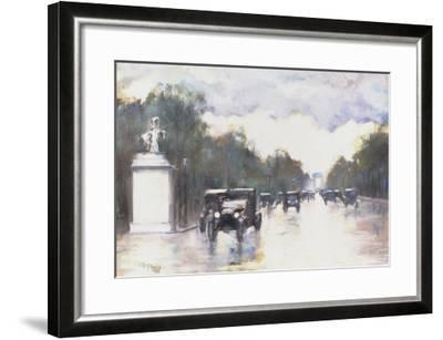 The Champs Elysees, 1928-Lesser Ury-Framed Giclee Print
