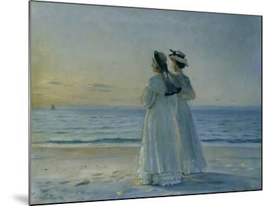 Two Women on the Beach at Skagen, 1908-Michael Peter Ancher-Mounted Giclee Print