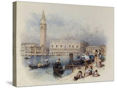 Doges Palace, Venice-Myles Birket Foster-Stretched Canvas Print