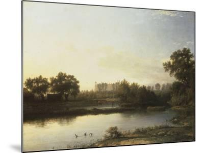 Eton from the River, 1818-Patrick Nasmyth-Mounted Giclee Print