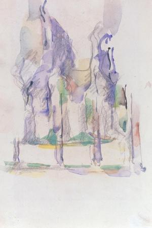 Groupe d'Arbres, c.1895-1900-Paul C?zanne-Stretched Canvas Print