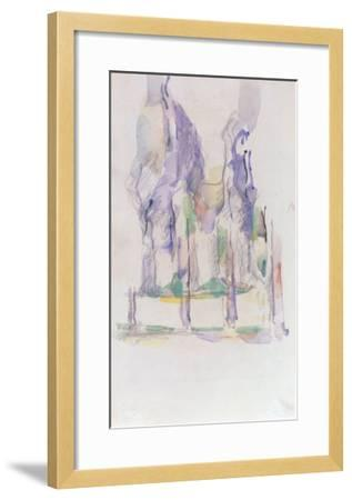 Groupe d'Arbres, c.1895-1900-Paul C?zanne-Framed Giclee Print