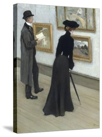 At the Gallery-Paul Fischer-Stretched Canvas Print