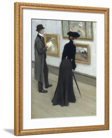 At the Gallery-Paul Fischer-Framed Giclee Print