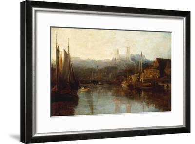 View of Lincoln Cathedral from the River-Peter De Wint-Framed Giclee Print