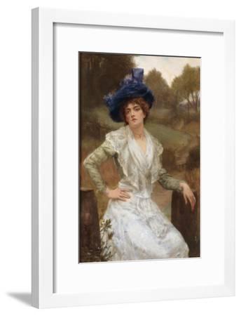 Waiting, 1897-Reginald Arthur-Framed Giclee Print