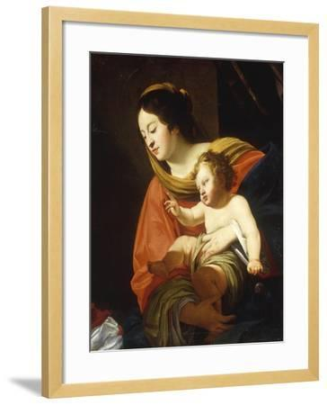 The Madonna and Child-Simon Vouet-Framed Giclee Print