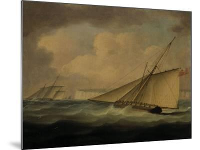 An Armed Cutter off the Coast-Thomas Buttersworth-Mounted Giclee Print