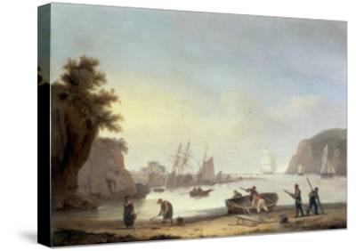 Teignmouth and the Ness, Devon, 1825-Thomas Luny-Stretched Canvas Print