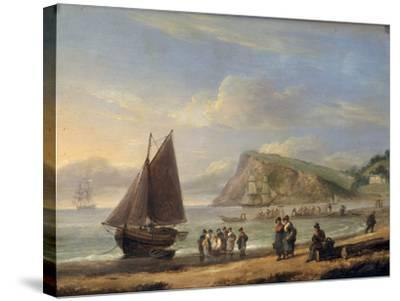 A View of Ness Point - Teignmouth, Devon, 1826-Thomas Luny-Stretched Canvas Print