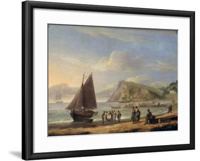 A View of Ness Point - Teignmouth, Devon, 1826-Thomas Luny-Framed Giclee Print